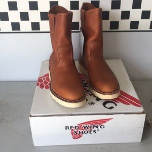 Brown Red Wings Shoes Boots Peco NWT NEW NIB